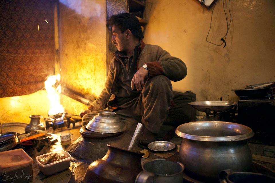 Preparing the Kashmiri delight; Harissa. Image : Bridgette Auger