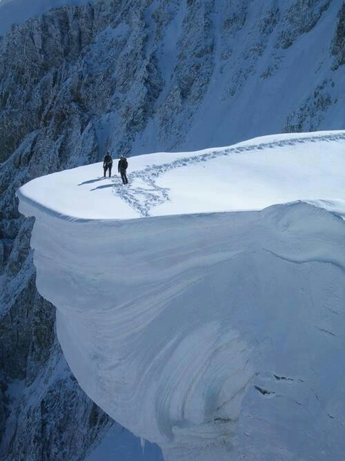 One edge of the Mont Blanc, France - Colors of the lovely planet