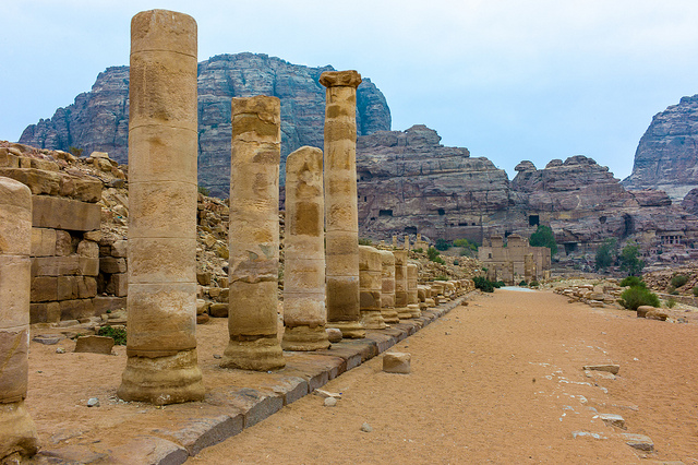 The remains of Petra, Jordan - Image by Colin Tsoi (flickr)