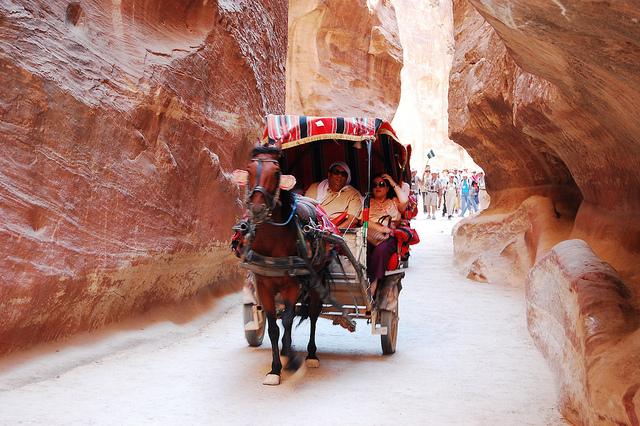 Tourists in Petra - Jordan - Image by Stuart Pike