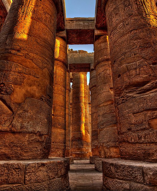 The Great Hypostyle Hall of Karnak Temple Complex : Photo - Camerons Personal Page