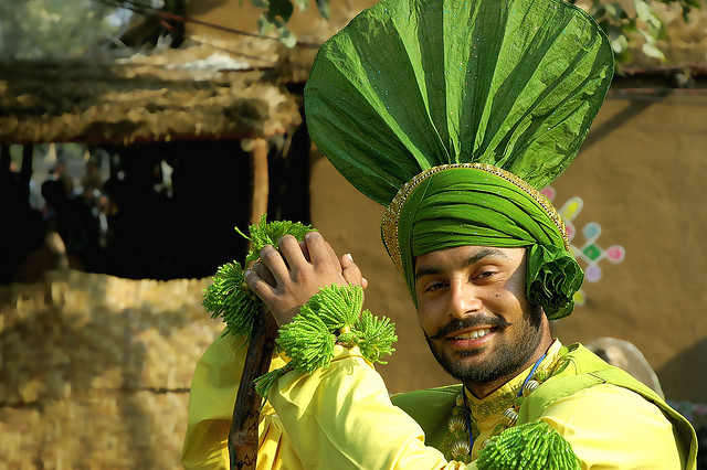 An image of a Punjabi guy wearing the traditional Turle waali Pagri - Photo: ~FreeBirD®~