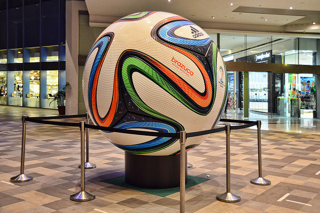 The gigantic replica of the official match ball for the 2014 FIFA World Cup - Image: chooyutshing