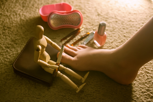 A pedicure is a way to improve the appearance of the feet and the nails. Photo by Fujoshi