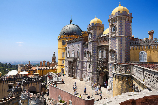 The historic Pena National Palace of Portugal by Viaggiatore Fantasma