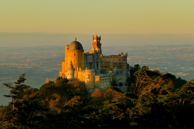 An exotic view of Pena Palace of Portugal - Image: moarplease