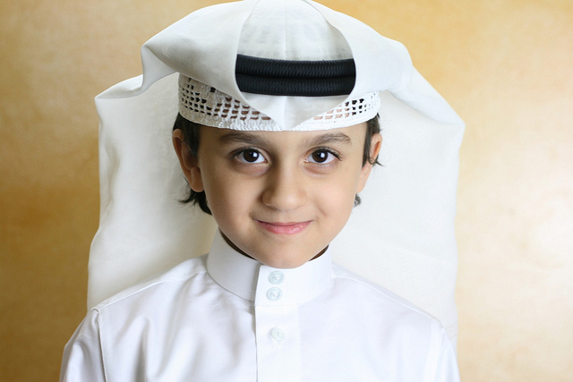 A Saudi kid - Very cute in his traditional attire - Image by Ahmed.Abdullah