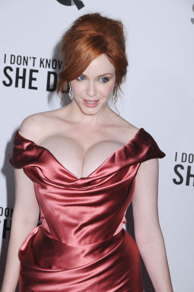 Christina Hendricks. An attractive American actress. Born May 3, 1975. Image  by Tattoo76
