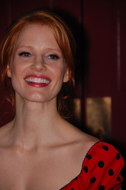 Jessica Chastain - A twinkling American actress. Born March 24, 1977 - Image by johndavidflores