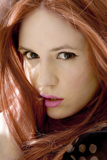 Karen Gillan -  A gorgeous Scottish actress and former model. Born 28 November 1987-  Image  by oliver Prout