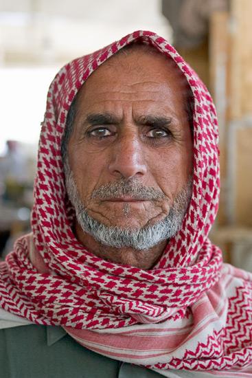 Qatari man wearing traditional headdress - Image by jflashphoto