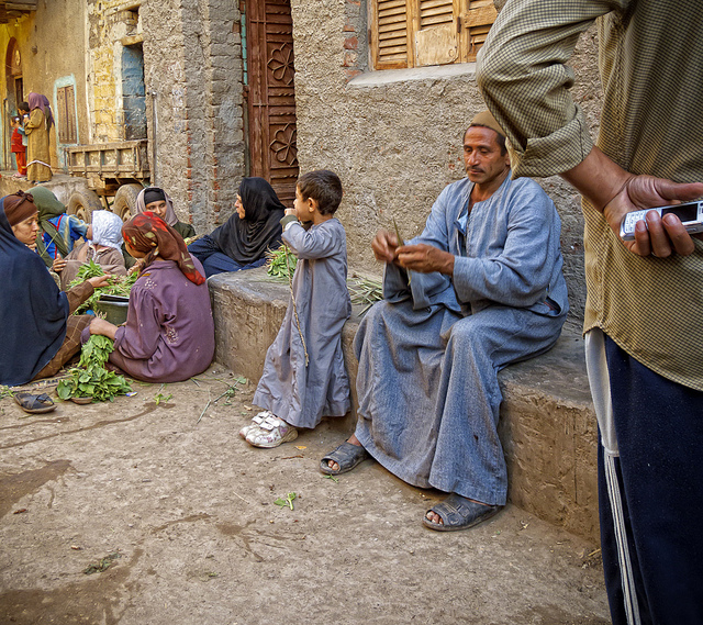 A random capture of the Egyptian villagers in their traditional outfits. Image Scott D. Haddow