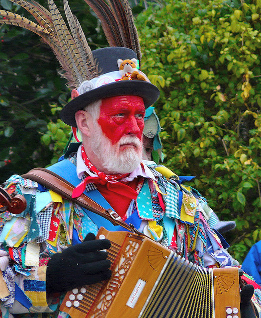 A traditional English musician in Whittlesea Straw Bear Festival. Image by kev747