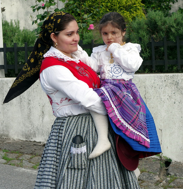 You might see the typical traditional Portuguese woman with puffy skirt  - Image by donald judge