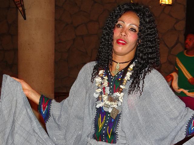 A Habesha dancer in Ethiopian costume - Image by msafari2425