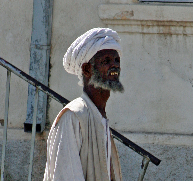 An Eritrean elder man in traditional outfits. Image by Carsten ten Brink