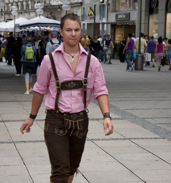 German boys used to wear lederhosen up to the age of about sixteen years. Image by San Diego Shooter