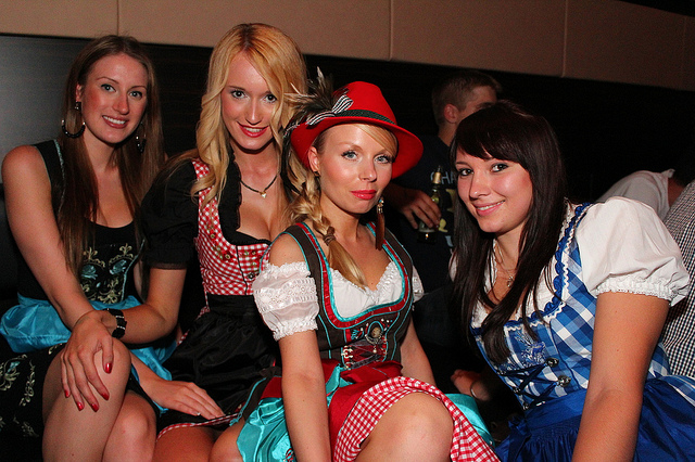 Nowadays, dirndl is worn by the German women in the cultural programs and events. Photo by avarty