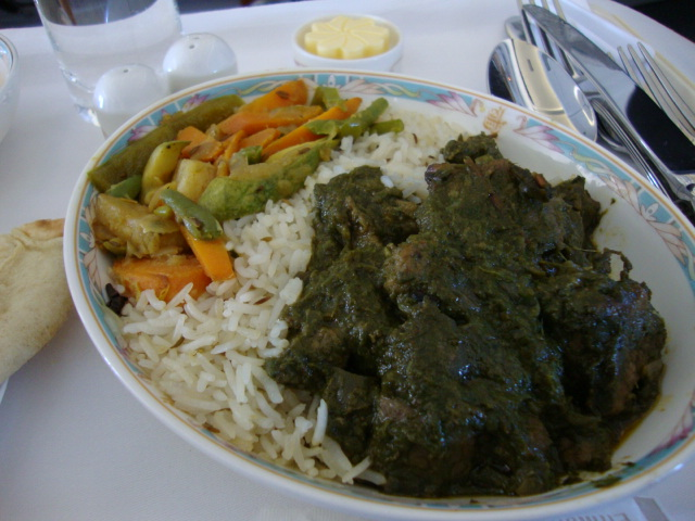 Palak Gosht means, 'Spinach with mutton curry' and it is usually prepared with lamb or goat meat. Image by powerplantop