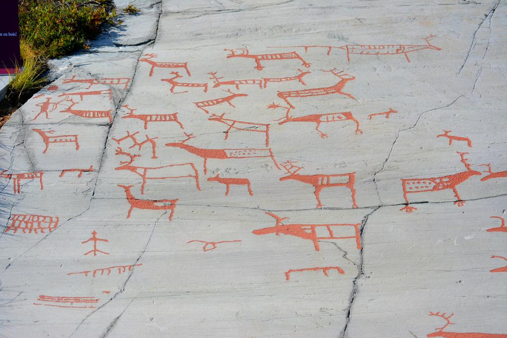 Alta rock carvings in Norway. Image by davidvolgyes