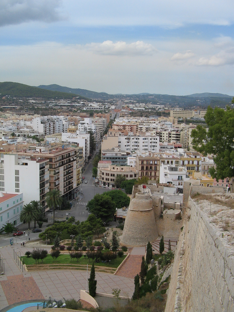 Ibiza town - Image by davehunt82