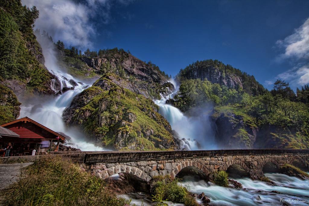 Latefossen watefall in Norway. Image by Tom Fear