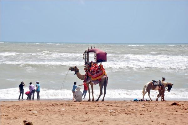 Sandspit beach in Karachi, Pakistan