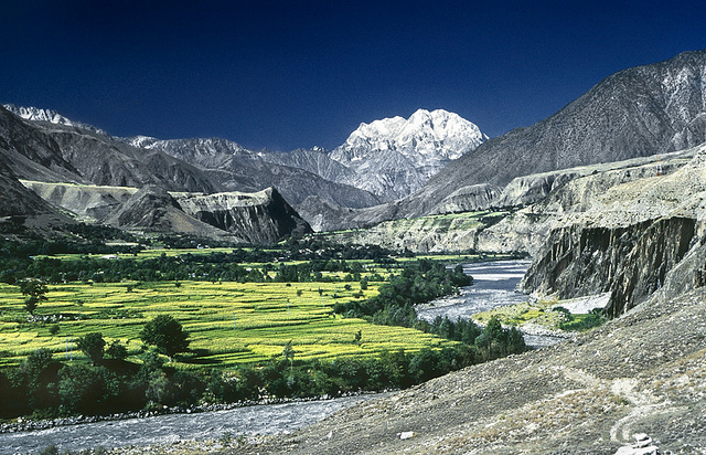 Tirich Mir Mountain across the Chitral valley - Image by zerega.