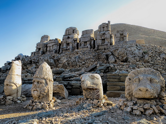 Colours of Mount Nemrut in Turkey - Photograph by rielax