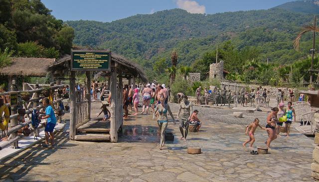 Mud baths in Dalyan - Turkey - Image by Peter J Dean