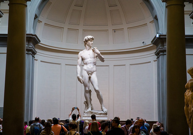 Michaelango's famous statue of David. Image by Edge of Day Photography