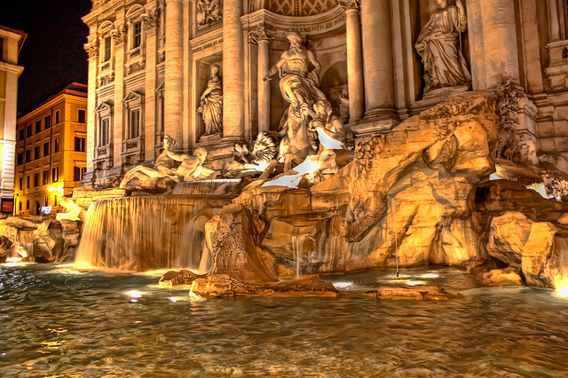 Trevi Fountain in Italy by Shawn Stilwell