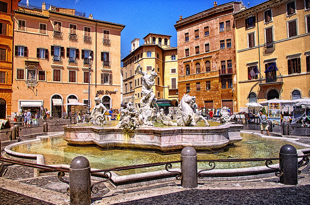 Piazza Navona in Italy by Smo_Q Dx