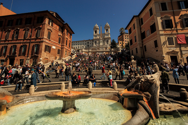 Spanish steps - italy by cliff.hellis