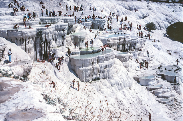 Colours of Pamukkale in Turkey - Photograph by jacqueline.poggi