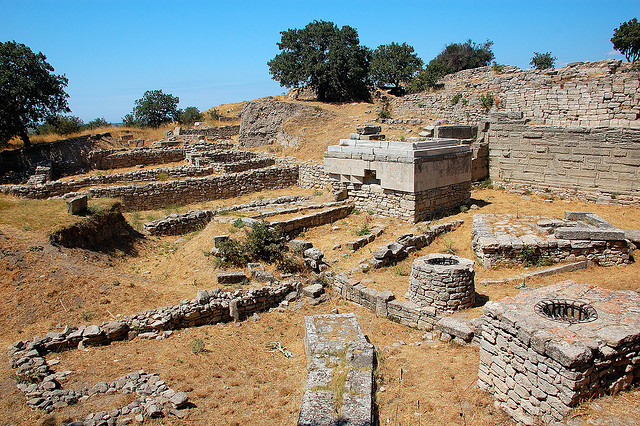 Ancient city of Troy in Turkey - Photograph by myhsu