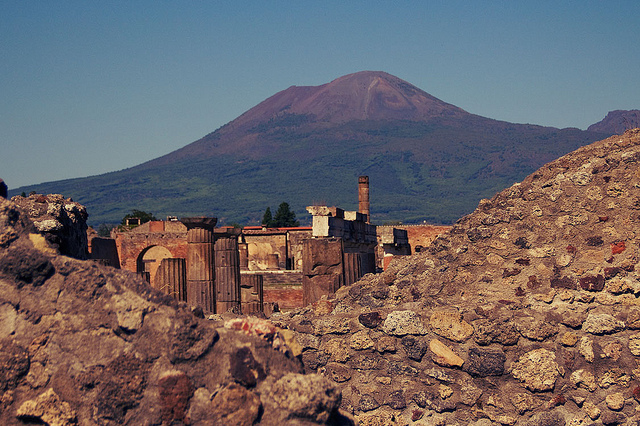 Vesuvius over Pompeii - Photo by butterforfilm - Italy